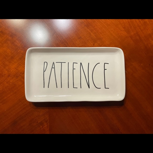 """Sold! Rae Dunn """"Patience"""" Plate"""